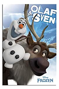 Frozen Poster Olaf Frozen Olaf And Sven Poster