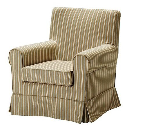 ikea ektorp jennylund linhem light brown armchair cover slipcover home garden decor slipcovers. Black Bedroom Furniture Sets. Home Design Ideas