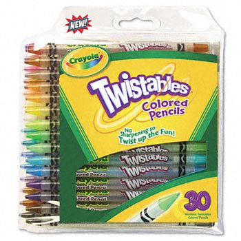 NEW - Twistables Colored Pencils, Nontoxic, 30 Assorted Colors/Pack - 687409