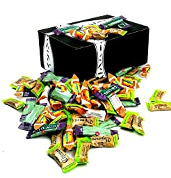 Ginger Candy Extravaganza: One 1 lb Assorted Bag of The Ginger People Gin Gins Original Chewy Ginger Candy, Reed\'s Ginger Candy, and Chimes Original Ginger Chews in a BlackTie Box