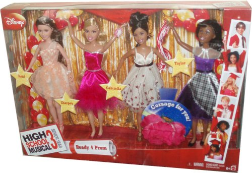 Buy Low Price Mattel Disney High School Musical 3 Senior Year Exclusive 10 Inch Doll 4 Pack Set – Ready 4 Prom with Kelsi, Sharpay, Gabriella and Taylor Plus Bonus Corsage Just For You Figure (B001TIGB8W)
