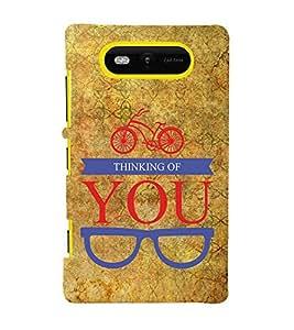 Thinking Of You 3D Hard Polycarbonate Designer Back Case Cover for Nokia Lumia 820 :: Microsoft Lumia 820
