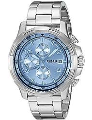 Fossil Dean Analog Silver Dial Men's Watch - FS5155