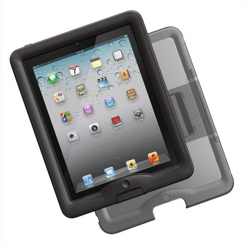 日本正規代理店品・保証付LIFEPROOF Apple au softbank iPad2/3/4用防水防塵耐衝撃ケース LifeProof nuud for iPad+coverstand ブラック 1103-'01