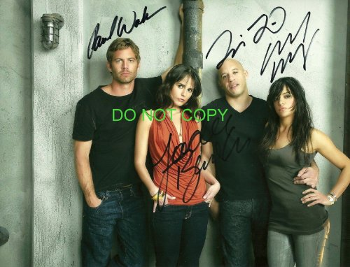 the-fast-the-furious-reprint-signed-autographed-cast-photo-paul-walker-diesel-rp