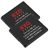 EZOPower 2-Pack NB-11L/NB-11LH Battery for Canon A2300, A2400, A2500, A2600, ELPH 340 HS, ELPH 320 HS, ELPH 150... by EZOPower