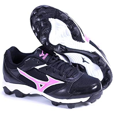 Buy FINCH FRANCHISE 4 BY MIZUNO GIRLS SOFTBALL MOLDED CLEATS BLACK PINK US GIRLS 1.5M by FINCH FRANCHISE 4