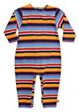 ZUTANO Multistripe Coverall, Navy, 6 Months