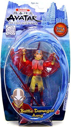 Buy Low Price Mattel Avatar the Last Airbender Basic Water Series Action Figure Battle Damaged Aang (B0012N8XK8)