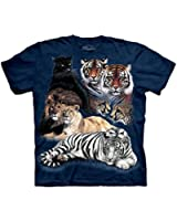 Big Cat Collage Adult Animals Unisex T Shirt The Mountain