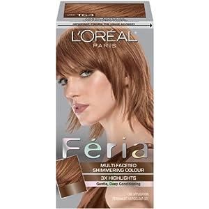 loreal feria highlighting kit t64 light copper brown