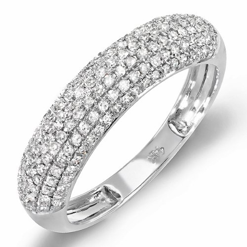 0.55 Carat (ctw) 14k White Gold Round Diamond