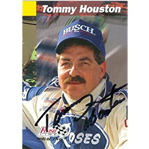 Houston Auto Racing on Tommy Houston Autographed Trading Card  Auto Racing  Finish Line  163