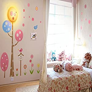 3D Flower Wallpaper Lamp Children Bedroom Small Night Wall Light from BcB5-lighting