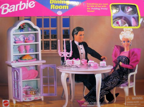Barbie - Dining Room Playset - Folding Pretty House - 1997 Arcotoys, Mattel - Buy Barbie - Dining Room Playset - Folding Pretty House - 1997 Arcotoys, Mattel - Purchase Barbie - Dining Room Playset - Folding Pretty House - 1997 Arcotoys, Mattel (Arcotoys, Inc. A Mattel Company, Toys & Games,Categories,Dolls,Playsets,Fashion Doll Playsets)