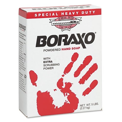 Dial Prof Boraxo Heavy-Duty Powdered Hand Soap, Unscented Powder, 5Lb Box