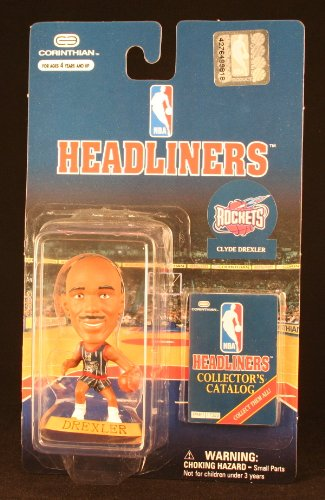 CLYDE DREXLER / HOUSTON ROCKETS * 3 INCH * 1997 NBA Headliners Basketball Collector Figure