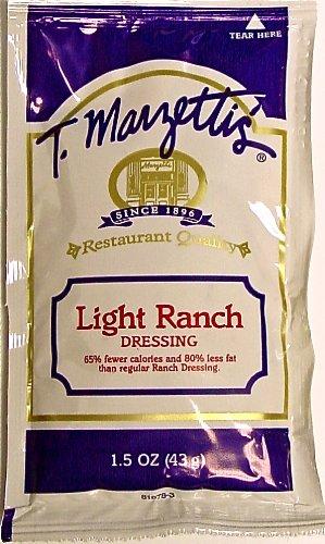 T Marzetti's LIGHT RANCH DRESSING, 1.5 oz Portion Control Pouch