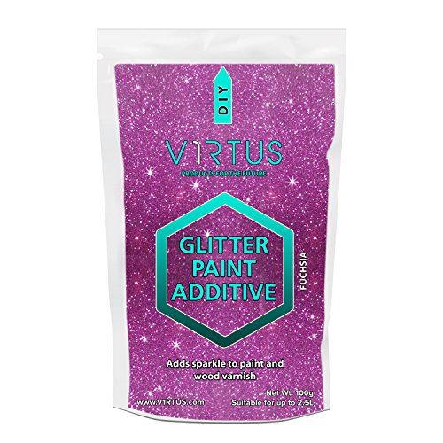 v1rtus-fuchsia-glitter-paint-crystals-additive-100g-for-emulsion-paint-for-use-with-interior-exterio