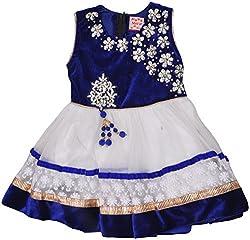 Be BeBo Girl's Cotton Dress (900_2, Blue, 2 Year )