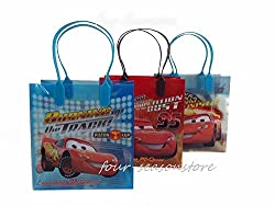 Disney 24pcs Cars Mc Queen Goodie Bags Birthday Party Favor Bags Gift Bags
