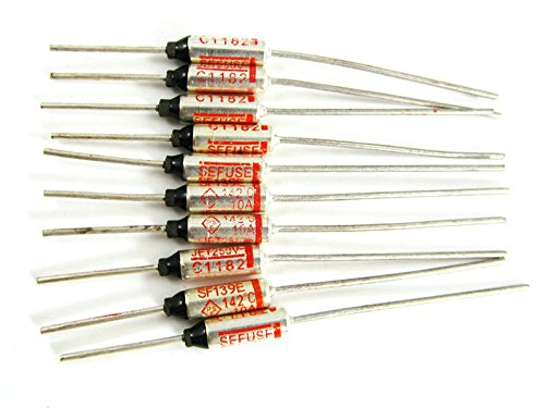5 Pcs Sf139E 142℃ Thermal Fuse/Rated Functioning Temperature 250V 10A