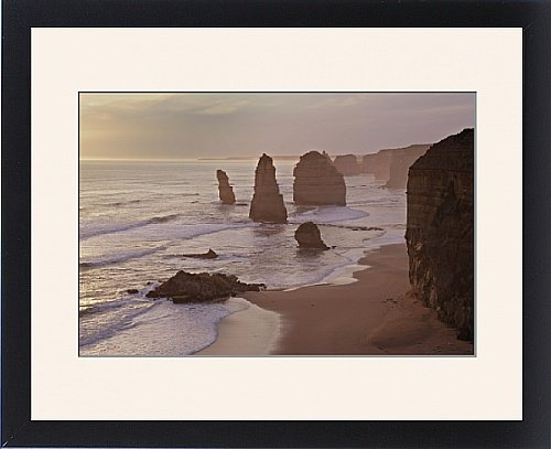 Framed Print Of Australia, Victoria - The Twelve Apostles With Collapsed Stack In Foreground front-1041627