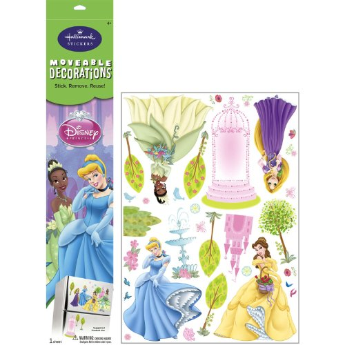 Disney Princess Removable Wall Decorations Party Accessory - 1