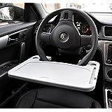 Cutequeen Trading car 1pcs Eating/Laptop Steering Wheel Desk Gray Grey(pack of 1)