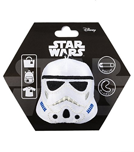 Japan Disney Official Star Wars the Force Awakens - Stormtrooper Head Mascot Clip Pin Badge Limited Soft Plush Stuffed Toys Cushion Doll Plushie Botton Ball Chain Takara Tomy Arts