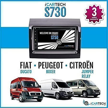 "►ICARTECH S730 - 7 "" Autoradio Lecteur DVD pour Fiat Ducato 250 Facelift, Peugeot Boxer, Citroen Jumper / Relay◄Le husky Android 4.1 Radio avec Navigation GPS ✔Bluetooth✔WiFi✔Multi-Touch Display✔3G✔4G&#1"