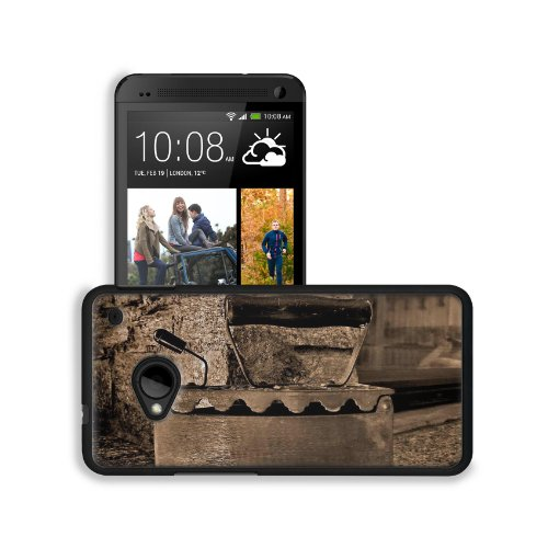 Old Retro Iron Antique Sepia Htc One M7 Snap Cover Premium Leather Design Back Plate Case Customized Made To Order Support Ready 5 11/16 Inch (145Mm) X 2 15/16 Inch (75Mm) X 9/16 Inch (14Mm) Msd Htc One Professional Leather Plastic Cases Touch Accessories front-579056