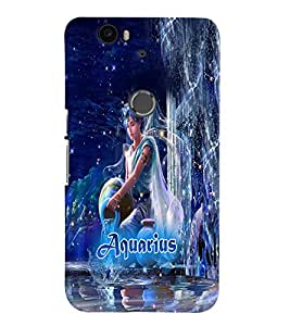 PRINTVISA Zodiac Aquarius Case Cover for Huawei Google Nexus 6P