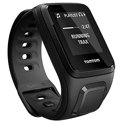 TomTom Spark Music + Casque BT - Montre Fitness GPS - Bracelet Large Noir (ref 1REM.003.04)