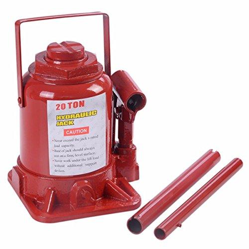 20 TON Hydraulic Bottle Jack Low Profile Automotive Shop Axle Jack Hoist Lift (Aluminum Truck Jack compare prices)