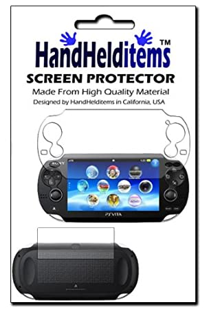 HHI Sony Playstation PS Vita Dual Crystal Clear Screen Protector (Front and Back Protector) (Package include a HandHelditems Sketch Stylus Pen)