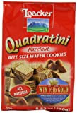 Loacker Quadratini Hazelnu Wafer Cookies, 8.82-Ounce Packages (Pack of 8)