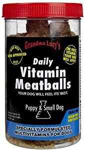 Grandma Lucy's Vitamin Meatballs Puppy & Small Dog - Beef - 10 oz