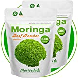 Moringa 1kg Blattpulver Premium Plus, garantiert beste Qualität (2x500g Pulver)