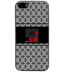 PrintDhaba Quote D-4331 Back Case Cover for APPLE IPHONE 5S (Multi-Coloured)