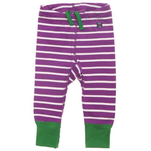 Polarn O. Pyret Circus Stripe Eco Newborn Leggings - Preemie - 1 Month/Acai front-962468