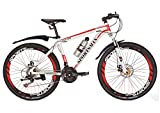 Sportsman Fly370 Mountain Bikes Bicycles Shimano 21-speed White Red Warranty