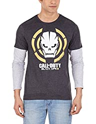 Call of Duty Men's Cotton T-Shirt (8903346500765_CD1DMT1386_S_Anthra Mel and Grey Mel)