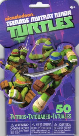 Teenage Mutant Ninja Turtles 3D Novelty Temporaty Tattoos (3 packs of 50 each)
