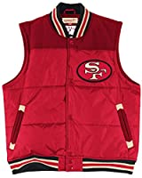 "San Francisco 49ers Mitchell & Ness NFL ""Title"" Throwback Snap Vest Jacket from Mitchell & Ness"