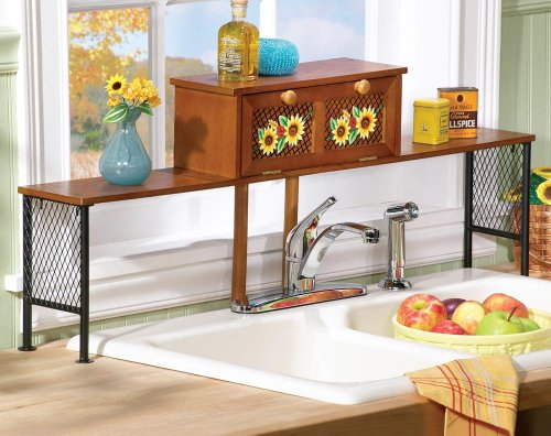 chaapast Tailgata Accassorias: Sunflower Over The Sink Shelf by ...