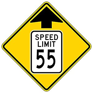 MUTCD W3-5 Speed Limit 55 Reduced Speed Limit Sign, 3M Reflective Sheeting, Highest Gauge Aluminum,Laminated, UV Protected, Made in U.S.A