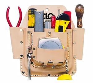 Custom Leathercraft W438 Maintenance Tool Pouch, Top Grain Leather, 6-Pocket