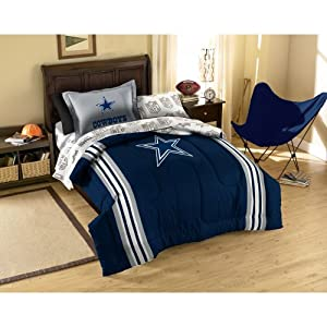 NFL Dallas Cowboys Twin Bed in a Bag with Applique Comforter by Northwest