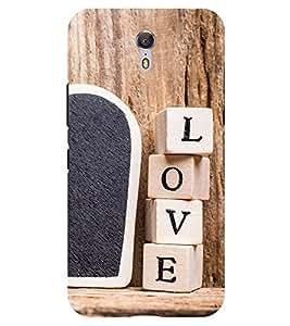 Chiraiyaa Designer Printed Premium Back Cover Case for Lenovo Zuk Z1 (boy girl friend valentine miss kiss heart wooden) (Multicolor)